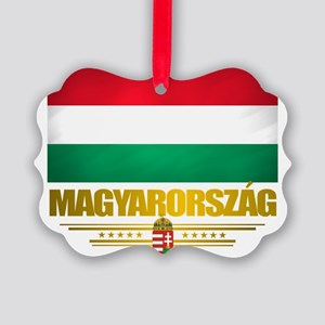 Hungary (Flag 10) Picture Ornament