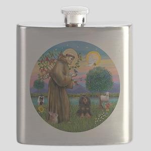 R-StFrancis-W-Black-tanCocker Flask