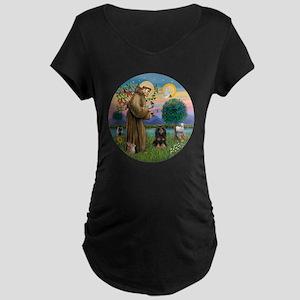R-StFrancis-W-Black-tanCock Maternity Dark T-Shirt