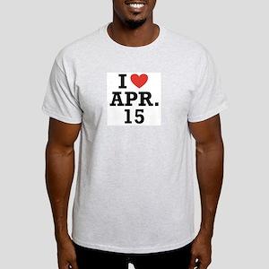 I Heart April 15 Light T-Shirt