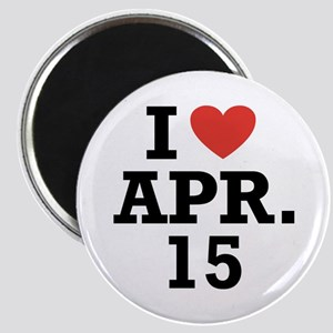 I Heart April 15 Magnet