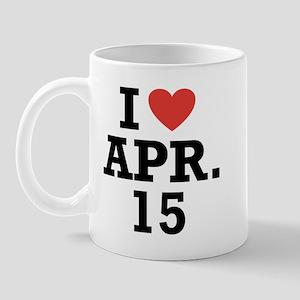 I Heart April 15 Mug