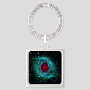 The Eye of God Square Keychain