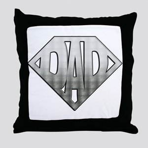 Superdad Throw Pillow
