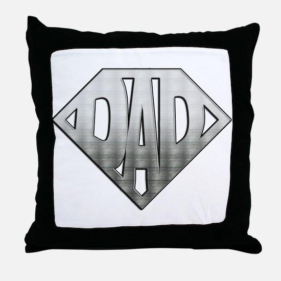 Superdad Throw Pillow