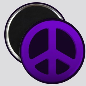 Purple Fade Peace Sign Magnets
