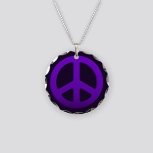Purple Fade Peace Sign Necklace