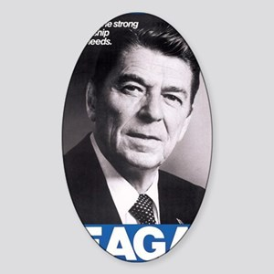 ART Reagan Sticker (Oval)
