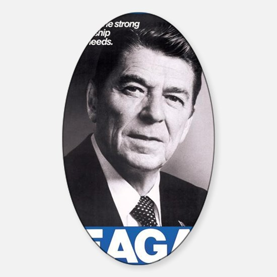 ART Reagan Sticker (Oval)