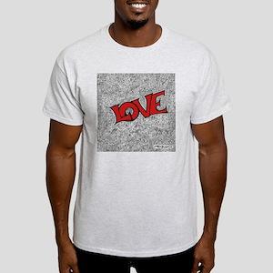 red Love Square  Light T-Shirt