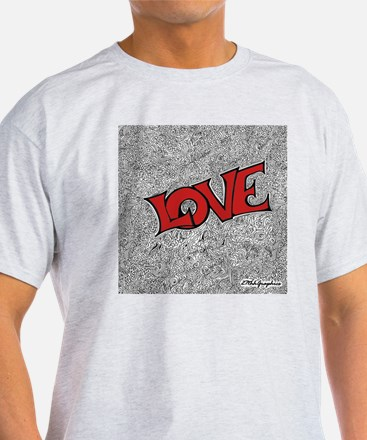 red Love Square png T-Shirt