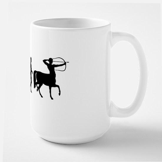 Evolution of Man - Centaur Large Mug