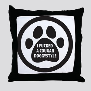 CougarDoggyStyle Throw Pillow