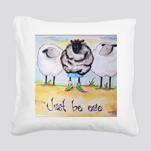 be ewe kr Square Canvas Pillow