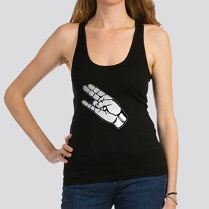 The Shocker Hand Sign Racerback Tank Top