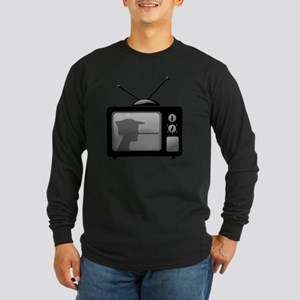 Lies on Television Long Sleeve Dark T-Shirt