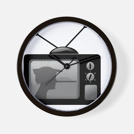Lies on Television Wall Clock