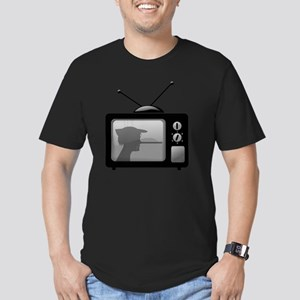 Lies on Television Men's Fitted T-Shirt (dark)