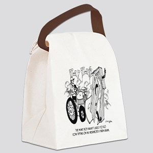 5954_outhouse_cartoon Canvas Lunch Bag
