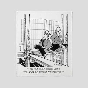 3700_construction_cartoon_BH Throw Blanket