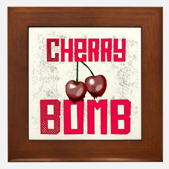 Cherry Bomb Framed Tile