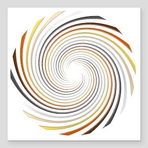 "bear spiral Square Car Magnet 3"" x 3"""