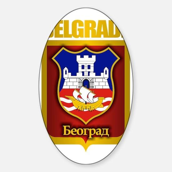 Belgrade Gold Sticker (Oval)