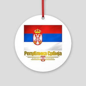 Serbia (Flag 10) Round Ornament