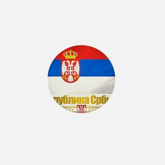 Serbia (Flag 10) Mini Button