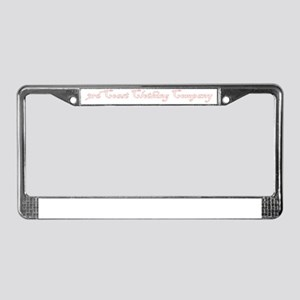 Logo Design Red and White License Plate Frame