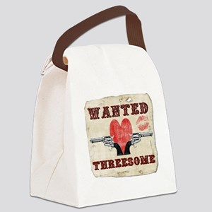 wanted_threesome Canvas Lunch Bag