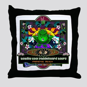 paddle frog final Throw Pillow