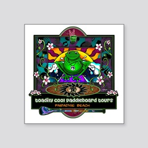 """paddle frog final Square Sticker 3"""" x 3"""""""