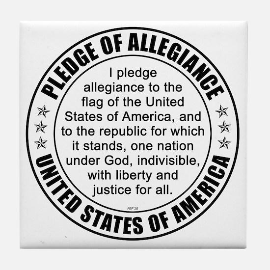 oct_pledge_of_allegiance_3 Tile Coaster