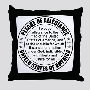 oct_pledge_of_allegiance_3 Throw Pillow