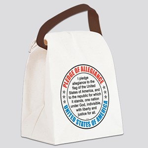 oct_pledge_of_allegiance_2 Canvas Lunch Bag