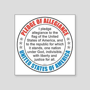 "oct_pledge_of_allegiance_2 Square Sticker 3"" x 3"""