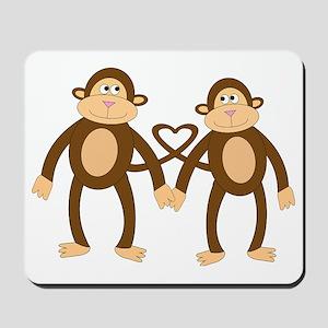 valentine monkeys Mousepad