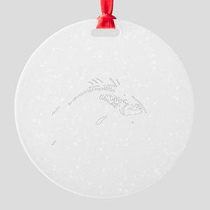 Fish Bait White Round Ornament