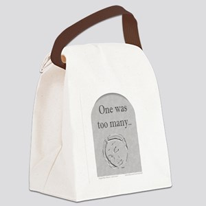 1wasManyGrey Canvas Lunch Bag