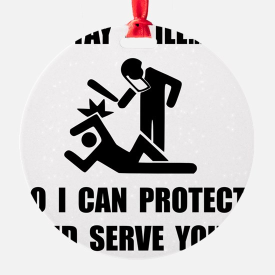 Protect Serve Black Ornament