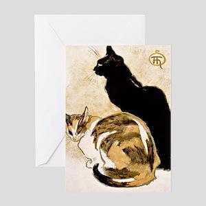 Steinlen Cats Greeting Card
