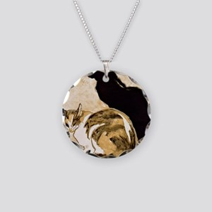 Steinlen Cats Necklace Circle Charm