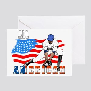 All American BaseBall player Catcher Greeting Card