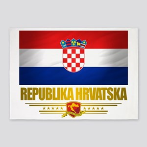 Croatia (Flag 10) 5'x7'Area Rug