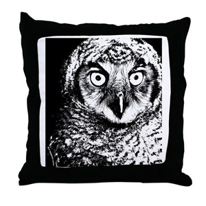 Black White Owl Pillows Cafepress
