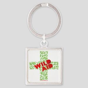 CWC_WildAid_BlkTshirt_10x10 Square Keychain