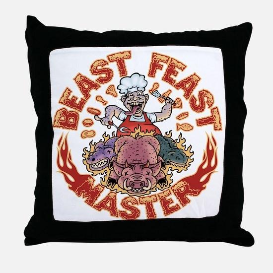 beast-feast2-T Throw Pillow