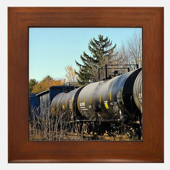 Train Framed Tile