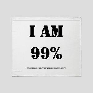 99_Percent_Sure copy Throw Blanket